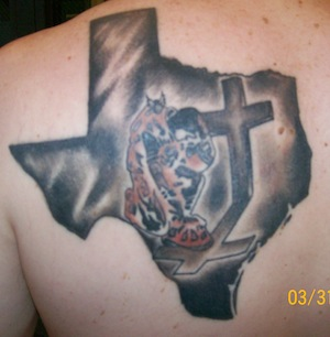 Awesome Firefighter Tattoo On Back Shoulder