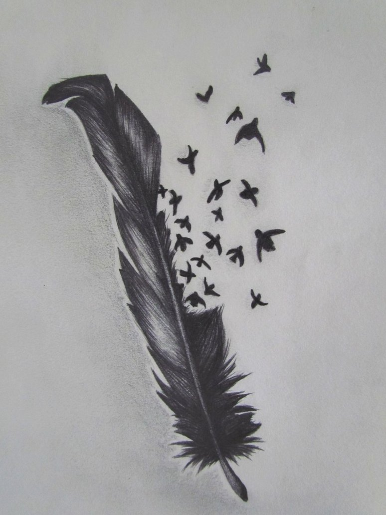 Birds Of A Feather Tattoo Sketch