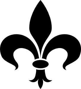 Black Fleur De Lis Tattoo Sample