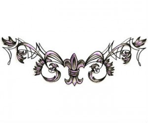Decorative Fleur De Lis Tattoo Design