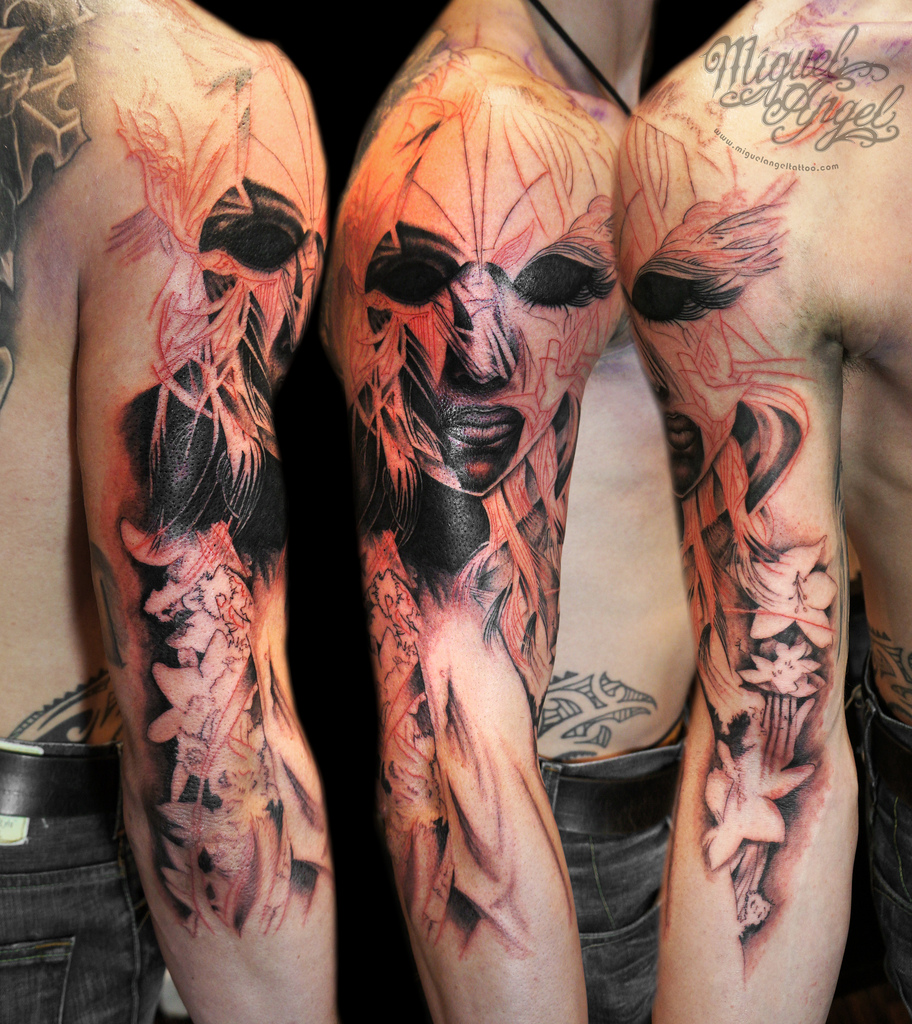 Japanese Demon Sleeve ...