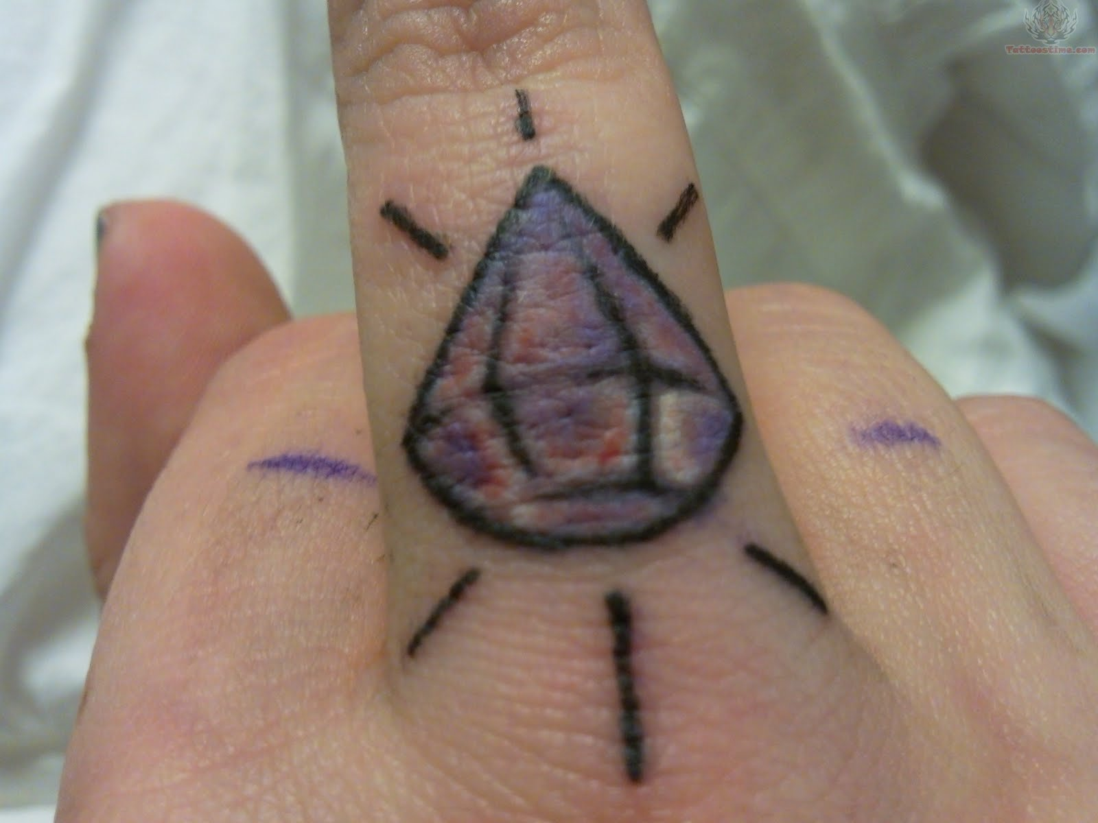 Diamond Tattoo On Finger