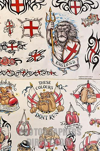 English Flag Tattoo Designs