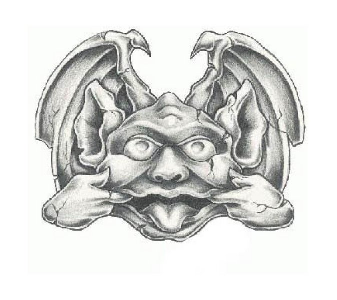 Fantasy Gargoyle Tattoo Sample | Tattoobite.com