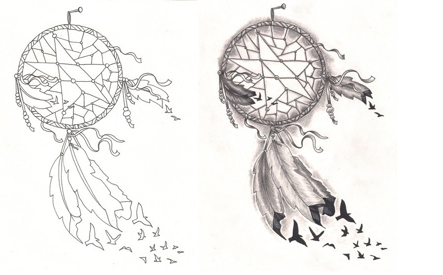 Feather Dream Catcher Tattoo Designs