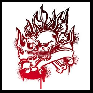 Fire Flame Skull Tattoo Picture