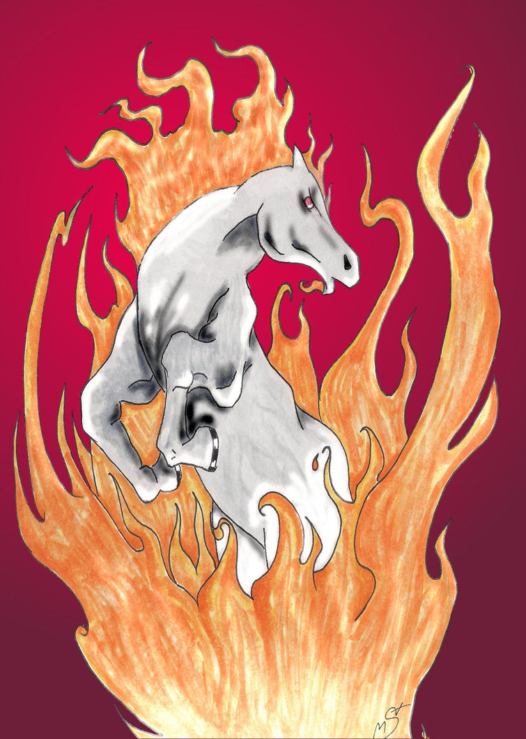 Fire Horse Tattoo Graphic