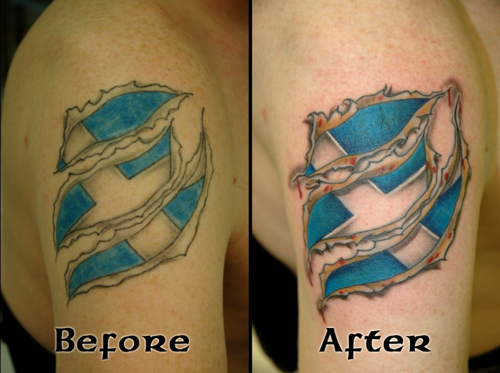 Flag Tattoo Stages