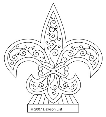 Fleur De Lis Ice Sculpture Tattoo Design