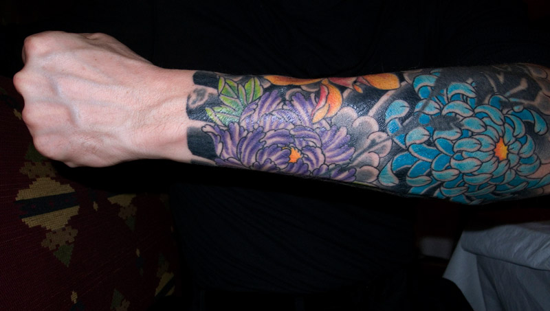 Floral Tattoo Design On Forearm