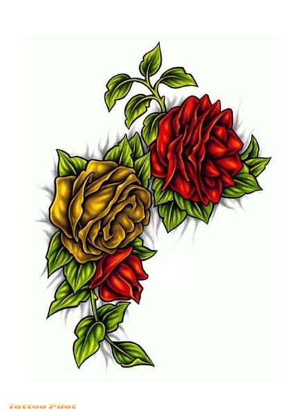 Flowers Tattoo Design Preview