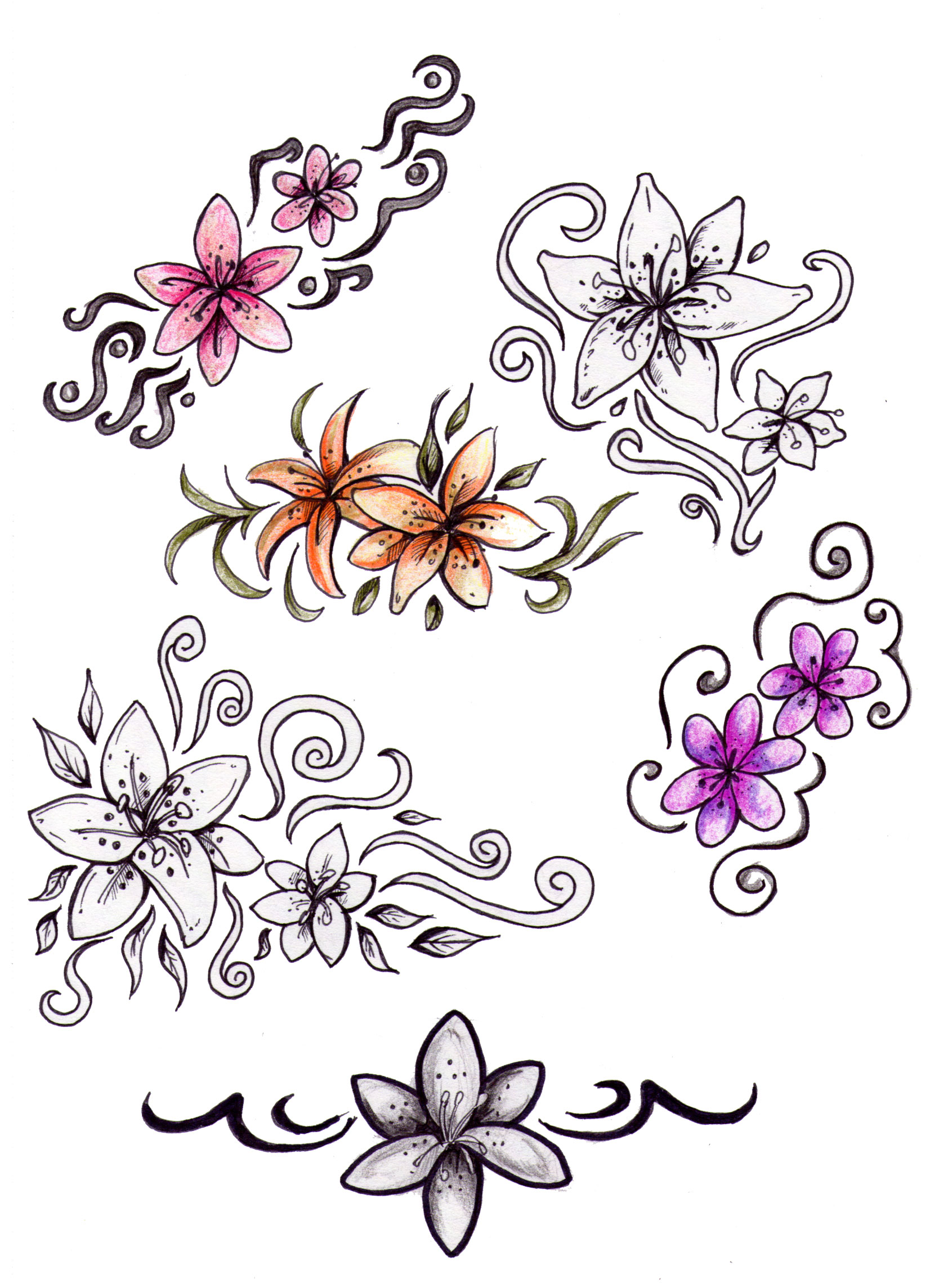Floral Tattoos Designs And Ideas Page 8