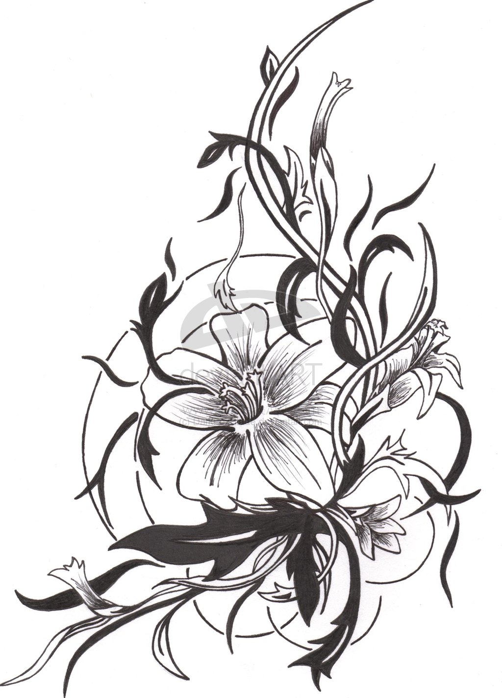 Free Floral Tattoo Design
