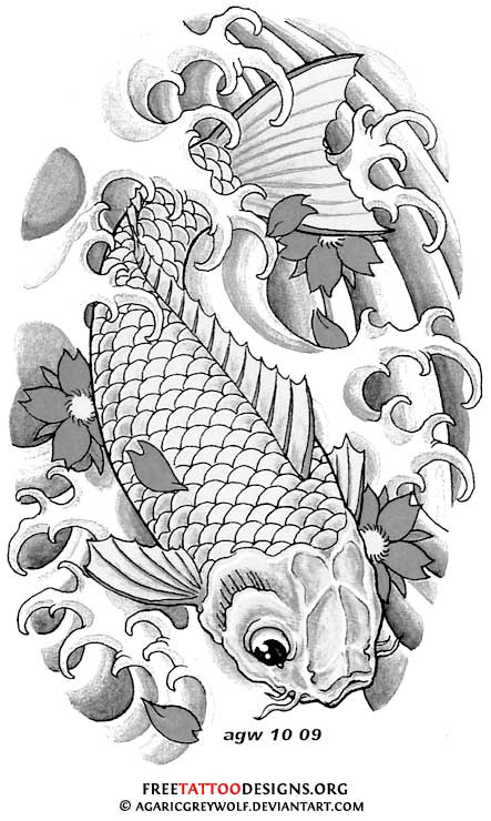 Koi Fish Tattoo Stencils Designs Car Tuning