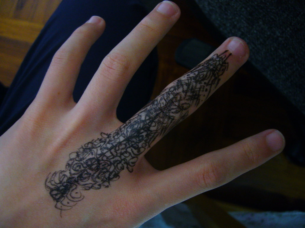 HD Finger Tattoo Wallpaper