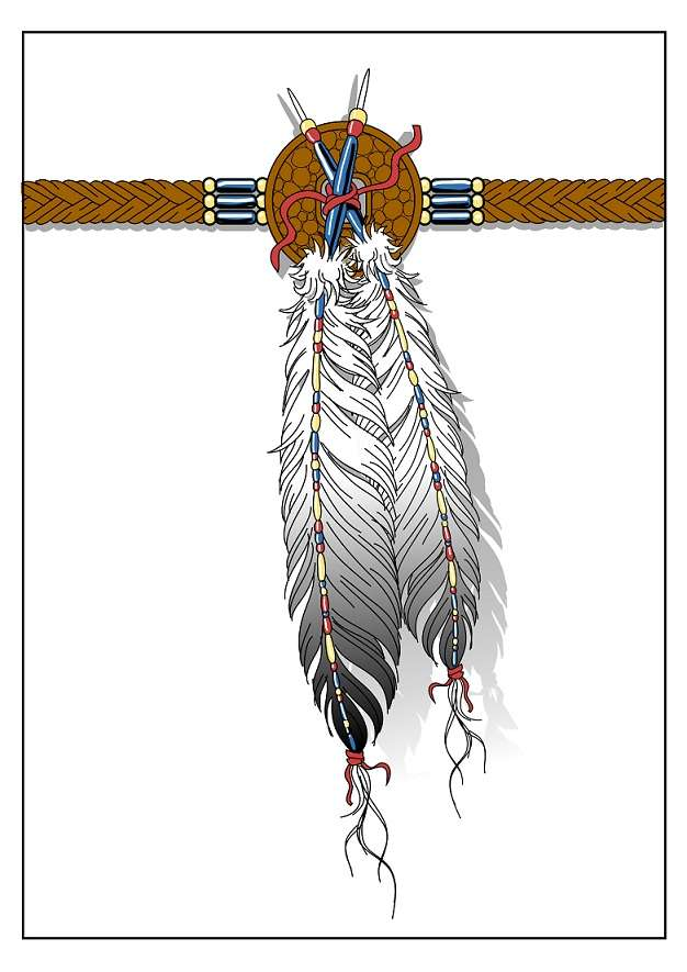 Indian Feather Tattoo Design