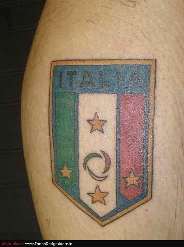 Italian Flag Tattoo