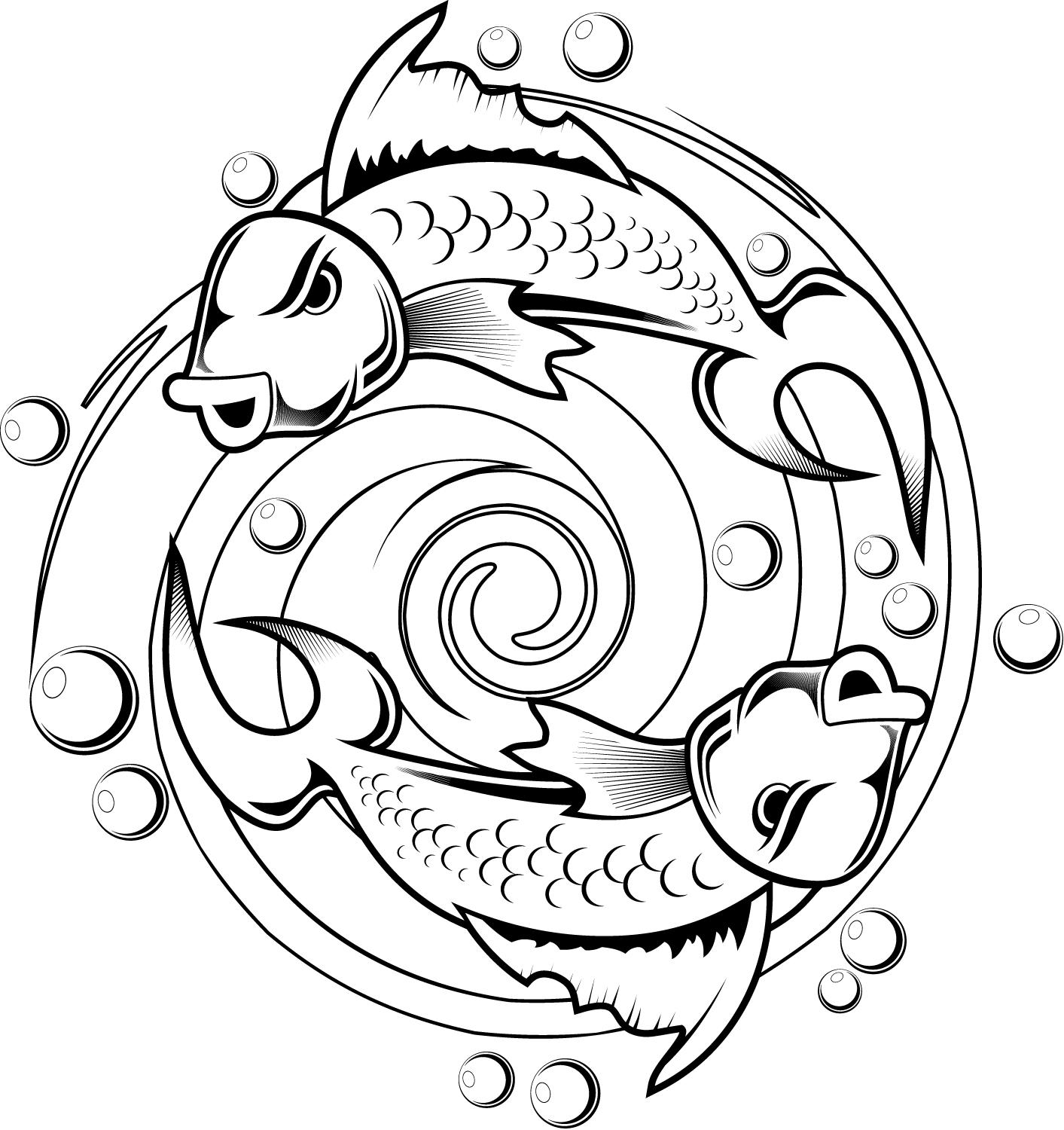 kids coloring pages of a koi fish tattoo design tattoobite com