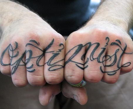 Knuckle Tattoo Design