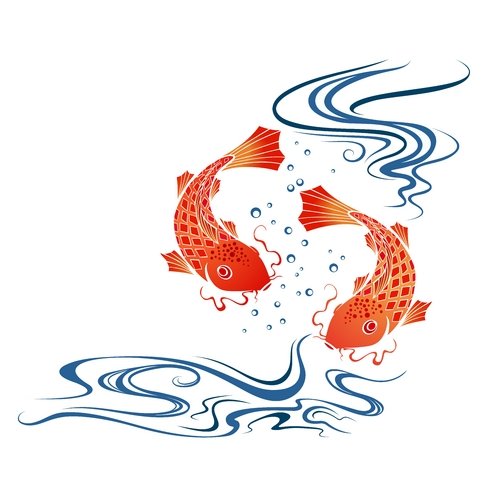 Koi Carp Fish Tattoo Design