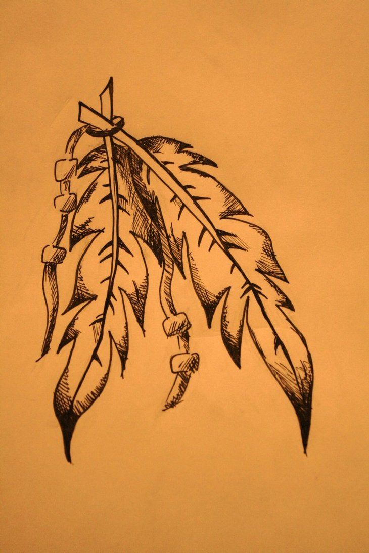 Native American Feather Tattoo Poster