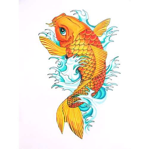 Orange Koi Fish Tattoo Design