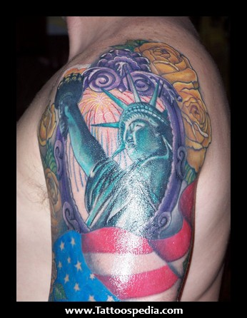 Patriotic Sleeve Tattoo