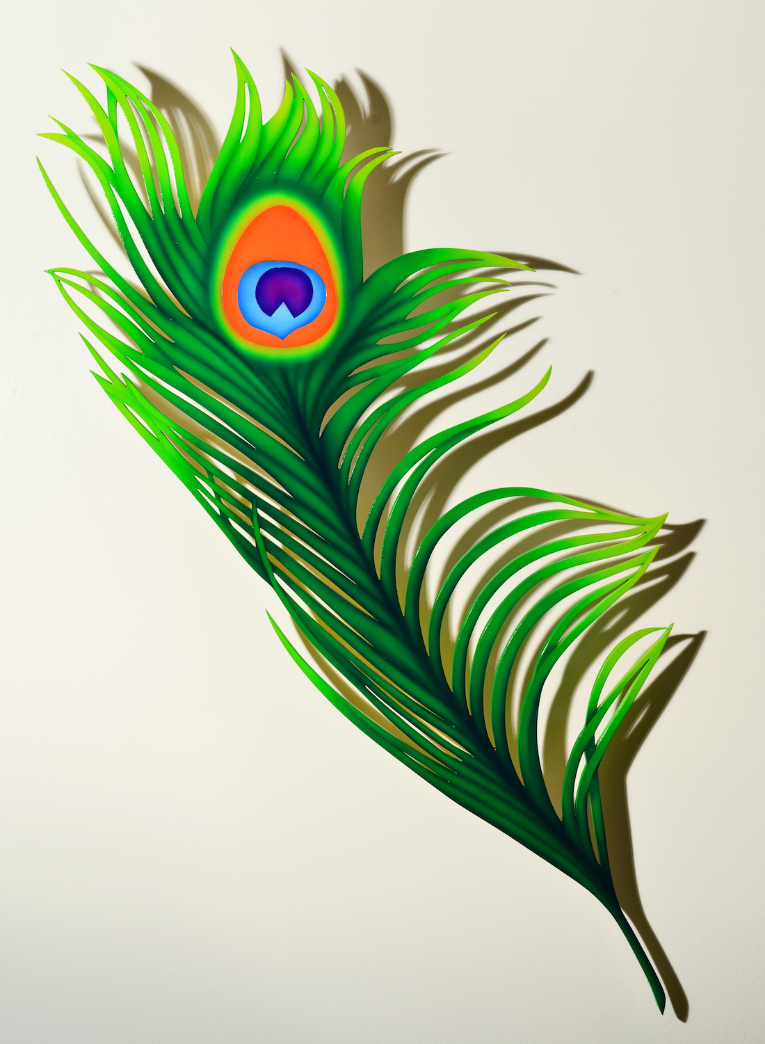 Peacock Feather Tattoo Poster
