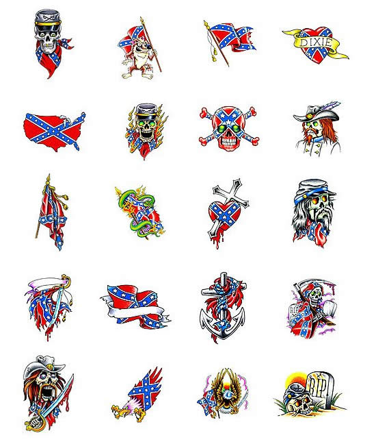 Rebel Flag Tattoo Designs