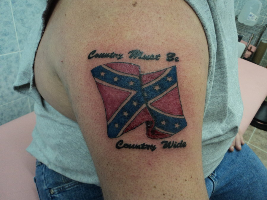 Rebel Flag Tattoo For Your Shoulder