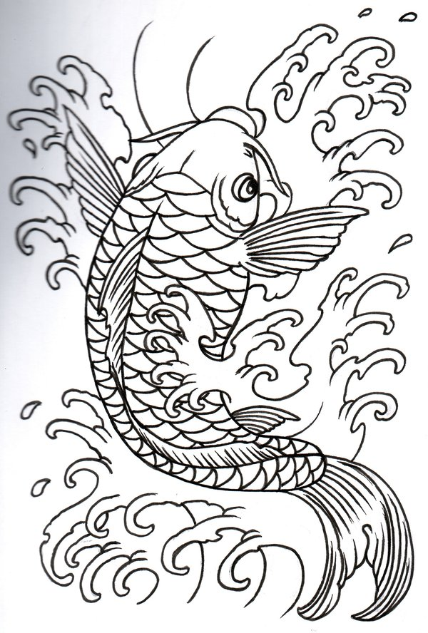 Simple Koi Fish Tattoo Designs Images amp Pictures Becuo