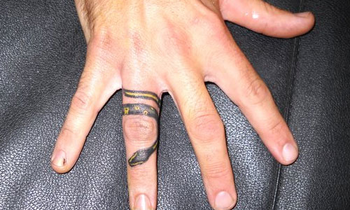 Snake Ring Finger Tattoo Design
