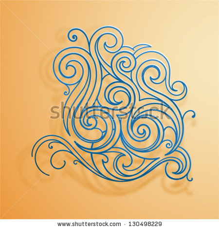 Stock Vector Floral Tattoo Design
