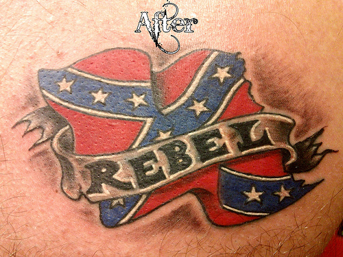 Terrific Rebel Flag Tattoo Design
