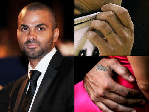 Tony Parker Finger Tattoo Design