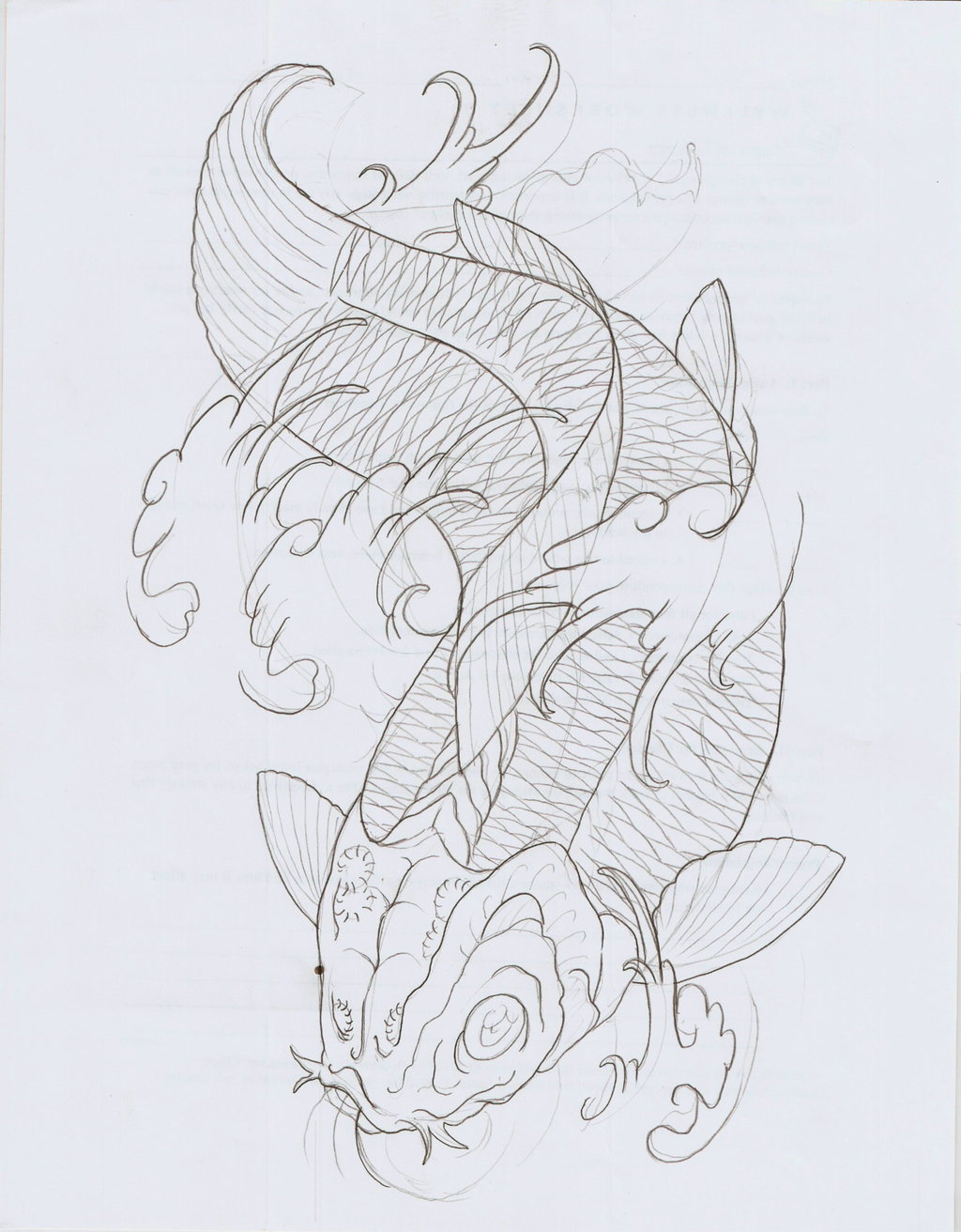 Tremendous Koi Fish Tattoo Drawing