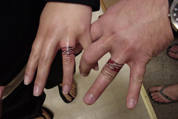 Truly Awesome Ring Finger Tattoo Design