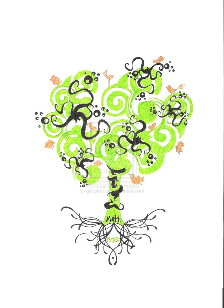 A Funky Tree Tattoo Design