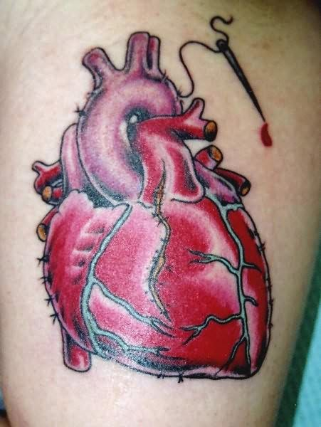 A Human Heart Tattoo Design