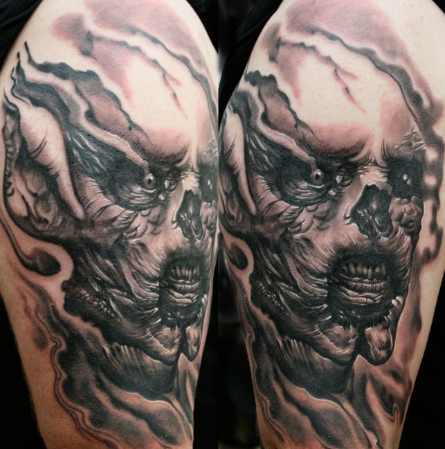 Alienish Horror Tattoo