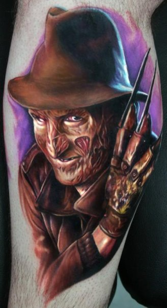 Amazing Horror Freddy Krueger Tattoo Design