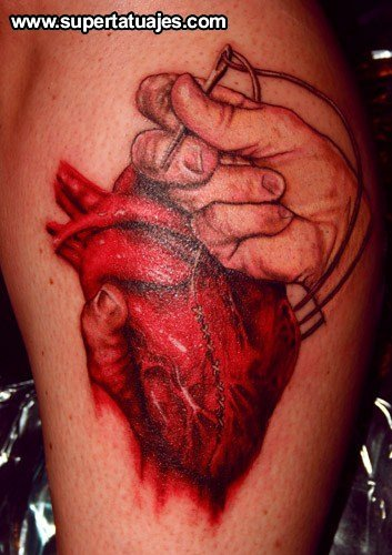 Anatomical Heart Tattoo Image