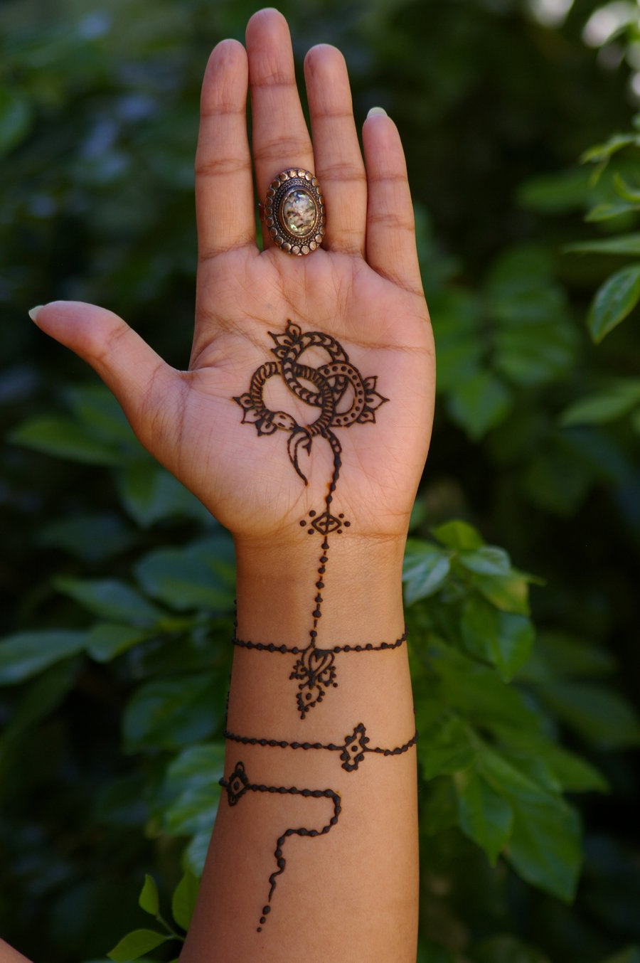 Antique Jewelry Inspired Henna Tattoo