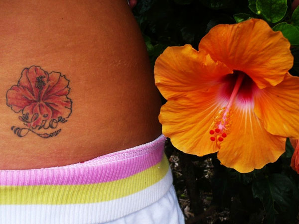 Awesome Hibiscus Tattoo Design
