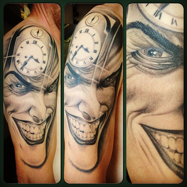 Awesome Joker Half Sleeve Tattoo For Men