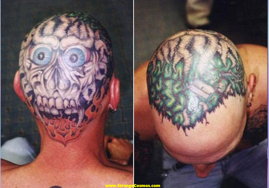 Bald Head Tattoo Designs