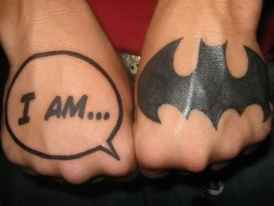 Batman Symbol Hand Tattoo Design