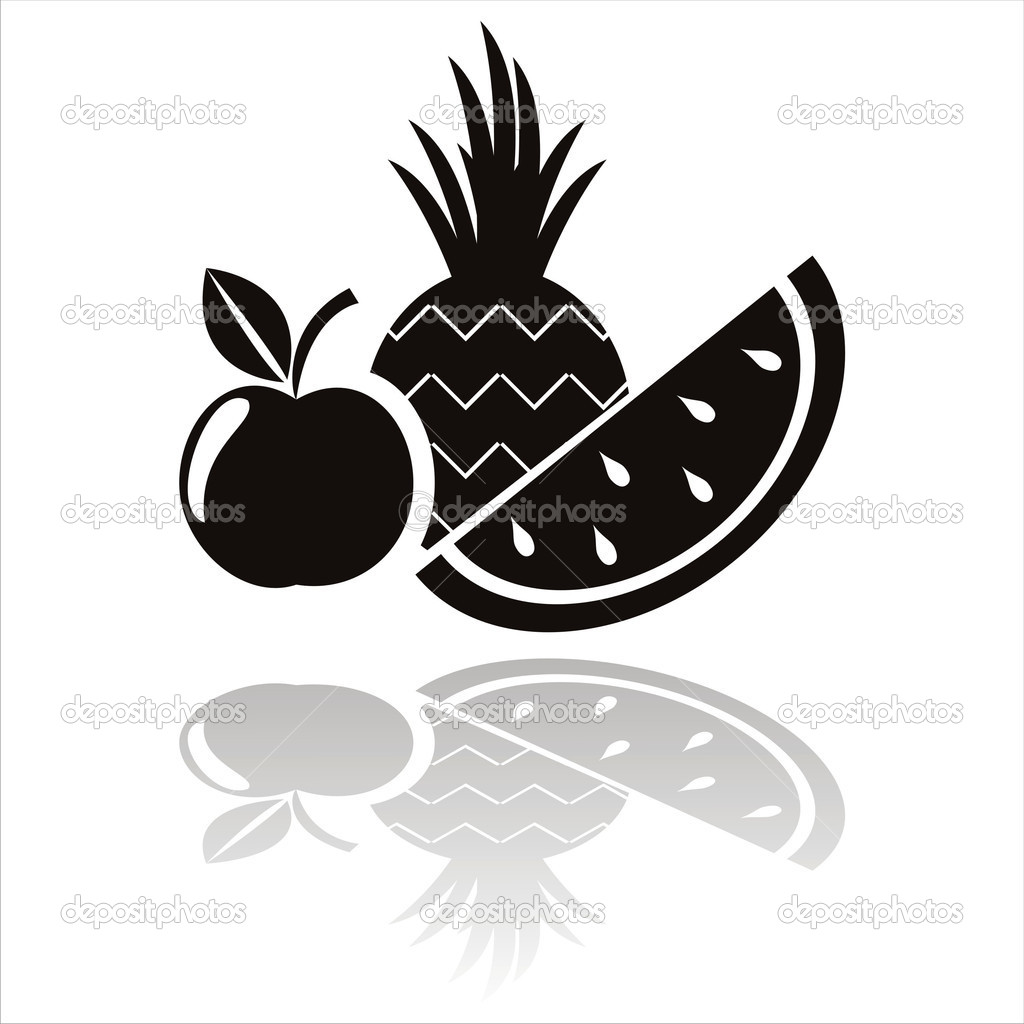 Black Fruits Tattoo Designs