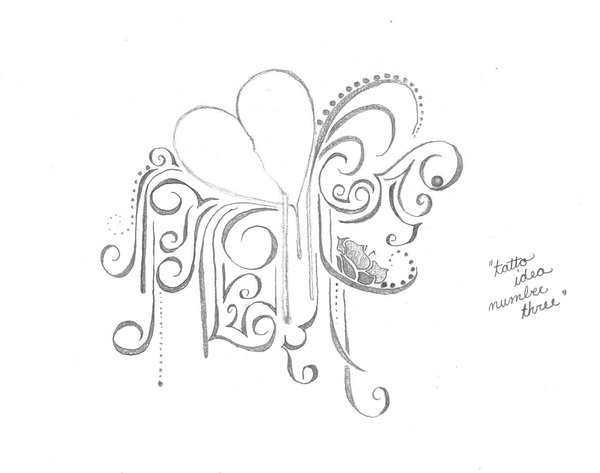 Bleeding Heart Tattoo Design