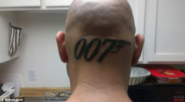 Bond 007 Head Tattoo Design